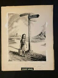 1940s South Jersey Orphanage Original Artwork By Bolte Gibson 19 X 15