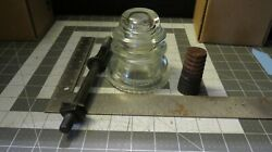 Vintage Hemingray 42clear Glass Insulators Made In The Usa Telephone Railroad