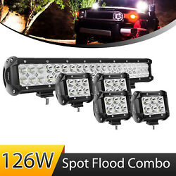 Nilight 20 Inch 126w Led Light Bar Spot Flood Combo With 4x 4 Pods Off Road Atv