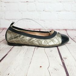 Anyi Lu 'cate' Leather Cap Toe Ballet Ballerina Flats Size 8.5 39 Shoes