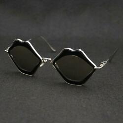 Used CHROME HEARTS SUNGLASSES CHOMPER LIP METAL FRAME 55◻20-138 Black Lenz