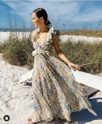2020 Womens Designer Inspired Floral Ruffle Sexy Maxi Dress
