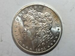 1904-o Pl Morgan Silver Dollar Date Unc From Album Collection Ms Condition M12