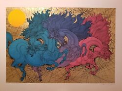 Guillaume Azoulay High Horses Artistand039s Proof Serigraph 8/10 A/p Very Rare