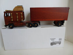 Handmade Cabover Semi Truck And Trailer Real Wood With Slide Top Storage