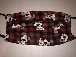 Adult Dog Paws Red Puppy New Face Mask Washable Reusable Cotton Handmade  $9.95