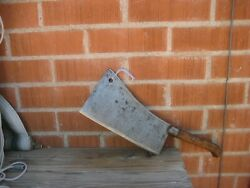 Antique 10 Blade X 2 1/2 Lbs. Oakland B. S. Co. Fine Carbon Cleaver Knife Usa