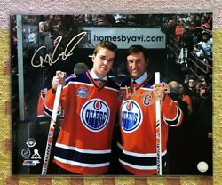 Connor Mcdavid And Wayne Gretzky Signed Autograph 16x20 Photograph Nhl Rare Proof