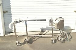 Garvey Corporate Stainless Steel 2 Wide Angle Turn Conveyor Apprx 6' Long