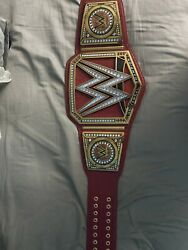 Official Wwe Authentic Universal Championship Replica Title Belt Signed