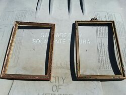 2 Antique 1930s Wood Carved Picture Frames Home Wall Decor Vintage Ornate Nice