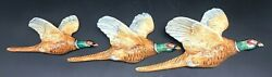 1950and039s English Set Of 3 Beswick Wall Mounted Pheasants No.661/2/3 Vg Condition.