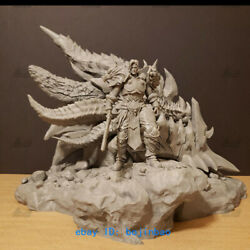 Wow Varian Wrynn Figure Resin Model Kits Unpainted 3d Printing Death Wing Stand