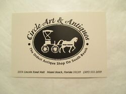 Circle Art And Antiques Miami Beach Florida Advertising Postcard Continental Size