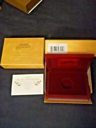 Us Mint Box And Coa 2009 10 Gold Proof First Spouse Margaret Taylor No Coins
