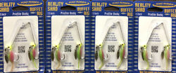 """(4) Road Runner Reality Shad Buffet Rig 1.5"""" 18oz Under Spin Slow Retrieve 171"""