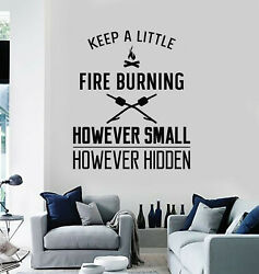 Vinyl Wall Decal Camp Camping Inspirational Quote Phrase Fire Stickers G2944