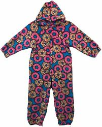 Made with Love and Kisses Kids Fuzzy Plush Pajama Loungewear Hoodie Size 6-14