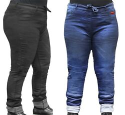 Rusty Stitches Super Ella - Ladies Plus Size Motorcycle Jeans Reinforced Stretch