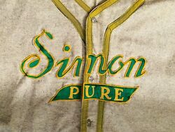 1950's Simon Pure Brewery Baseball Jersey Uniform The Holy Grail Of Buffalo Beer