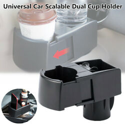 Car Scalable 6.78.4cm Dual Cup Holder Drink Ashtray Cell Phone Bracket Storage