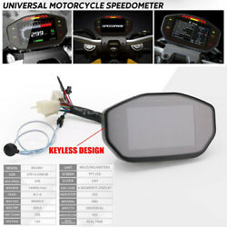 Motorcycle Bikes Led Real Time Speedometer Lcd Digital Odometer For 2.4 Cylinder