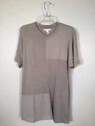 Helmut Lang Seamed Uni-sleeve Japanese Luxe Jersey Patchwork T-shirt Pre-owned