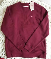 New Leviand039s Burgandy Pullover With Small Leviand039s Logo Embroidered Size L