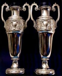 5689 Pair Of Wmf Silver Plated Vases