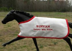 RUFFIAN TB embroidered blanket Breyer thoroughbred race horse