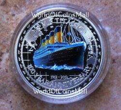 Titanic Rms 2012 2niue1oz999 Proof Silver Coin100th Anniversary2229 Minted