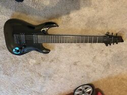 Schecter Blackjack C-7 Used Great Condition 7 String Black
