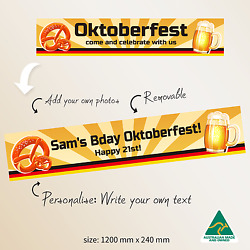 Customised Oktoberfest German Beer Large Party Banner Decorations Supplies