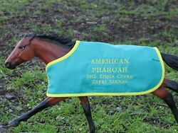 AMERICAN PHAROAH TB blanket Breyer thoroughbred race horse Triple Crown