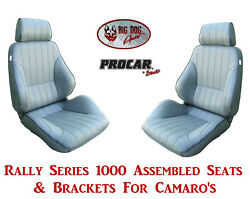 Scat Rally Series 80-1000-52 Seats And Brackets Set For 1967-2002 Chevy Camaro