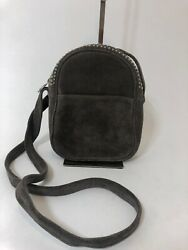 CALLEEN CORDERO Suede Studded Messenger in Taupe $198.00
