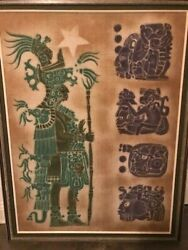 Dale Nichols 1977 Original Painting Mayan/ Art From Tikal 9