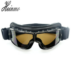 Motorcycle Goggles Scooter Goggle Glasses Aviator Pilot Cruiser Wwii Vintage New