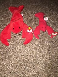 Ty Beanie Baby Pinchers P.v.c Pellets Rare Collectible And Mcdonalds Mini Pinchers