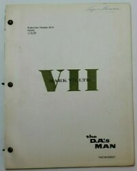 The D.a.and039s Man / Jack Webb 1959 Tv Script Witness New York Mob Crime Series