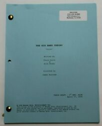 The Big Bang Theory / Chuck Lorre, 2006 Tv Show Script Unaired Pilot Episode