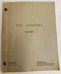The Invaders / Jerry Sohl And Earl Hamner Jr. 1967 Tv Show Script The Watchers