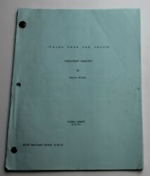 Tales From The Crypt / 1991 Tv Script, Season 3 Episode 7 Reluctant Vampire