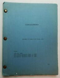 A Night In Casablanca / 1945 Screenplay, Marx Brothers Cache Of Stolen Treasure