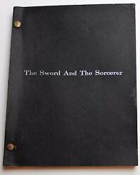 The Sword And The Sorcerer / 1981 Screenplay Mercenary With A 3 Bladed Sword