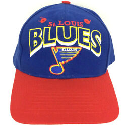 Vtg St Louis Blues Cap The Game Wool Script Spell Out Logo Hockey Snap Back Hat