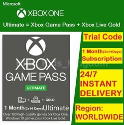Xbox Live 1 Month Gold amp; Game Pass Ultimate Code 2x 14 Day FAST DELIVERY
