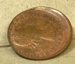 Australia 1963 Penny Error Large Off Center Mistrike ..scarce And Uncirculated