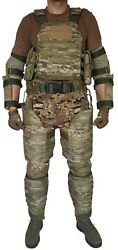 Plate Carrier Size M With Bulletproof Pads Multicam Level Iiia, New