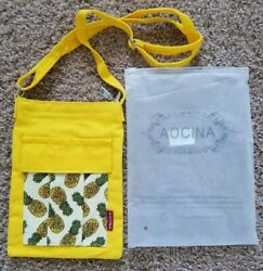 Womens Ladies Girls AOCINA Cross body purse with Pineapples